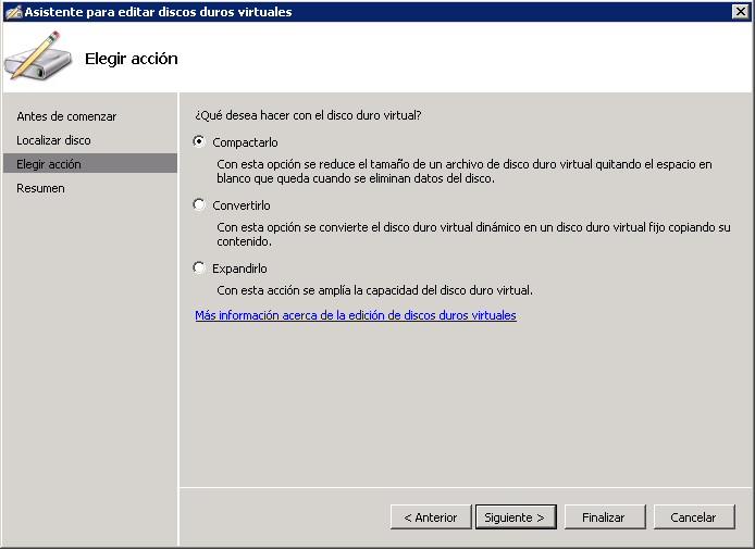 start disk management snapin and click action attach vhd and specify the location of the already compacted vhd file